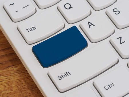 leadership key: Computer keyboard button with blank text