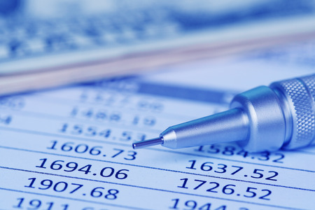financial reporting and analysis Stock Photo