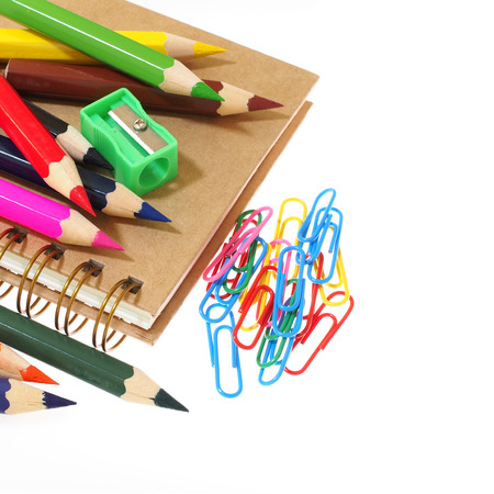 Group Of Stationery Tools Iolated On White Background Stock Photo   62184133