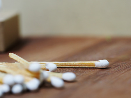 Group of matches selective focus Stock Photo