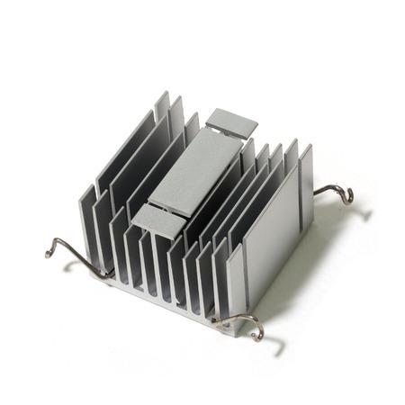 aluminium background: aluminium heatsink isolated on white background
