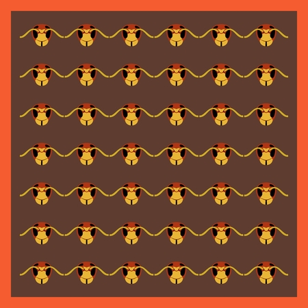 Abstract pattern of hornets heads Ilustracja