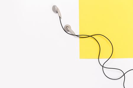 headphones isolated. White headphones.Isolated on white background