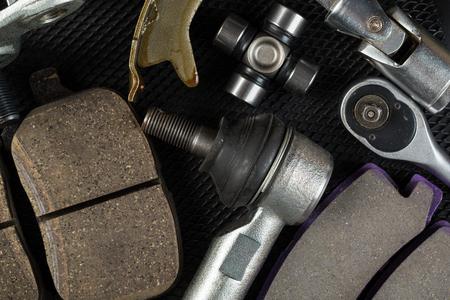 Various Car parts on dark background 版權商用圖片