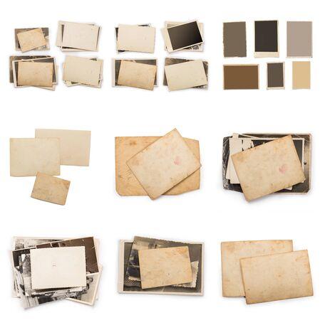 Ancien cadre photo. Papier vintage. Carte rétro Banque d'images