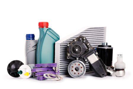 Inspección de automóviles, repuestos, accesorios de automóviles, filtros de aire, discos de freno, faros