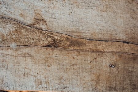 wood brown grain texture, dark wall background, top view of wooden table