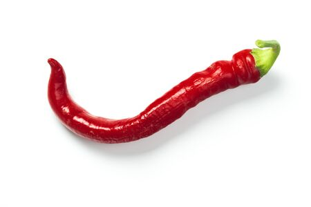 red chili pepper isolate on white with clipping path Stockfoto