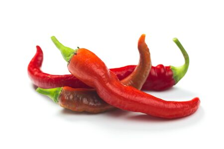 chili pepper isolated on a white background Clipping Path