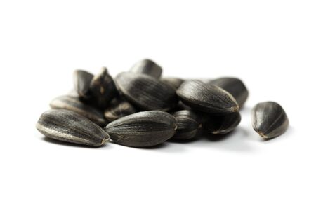 Organic Sunflower seeds isolated on white background Stockfoto