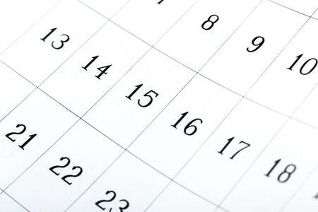 Page de calendrier 2020 flou abstrait. jour du mois Banque d'images