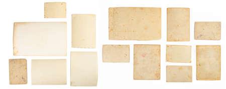 Old photo frame. Vintage paper. Retro card. Back of an old photo Imagens
