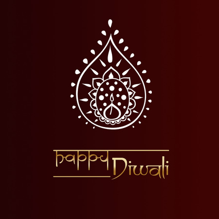 diwali celebration: happy diwali greeting card, indian festival of lights Stock Photo
