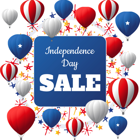 USA Independence Day sale vector card