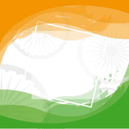 Patriotic holidays of India vector design template