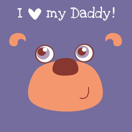 Cute baby animal Fathers Day card.