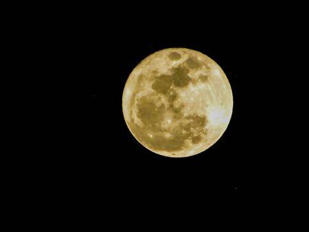 Full moon over Albuquerque New Mexico
