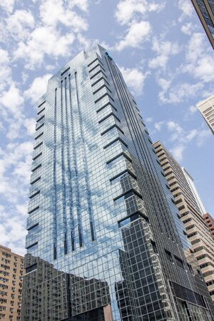 Glass type Skyscraper in Philadelphia Редакционное