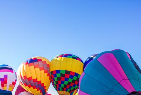 Four Hot Air Balloons in the Albuquerque Sky