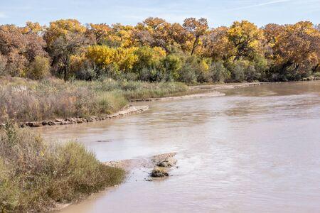 Rio Grande River in Albuquerque New Mexico Фото со стока - 70725096