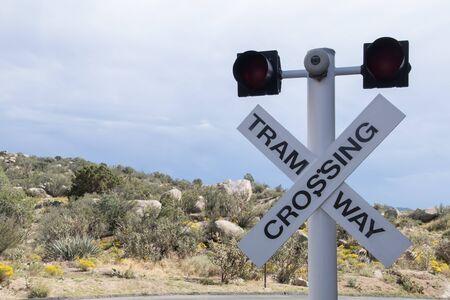 Cibola National Park Tram Crossing Signal Фото со стока - 70727359