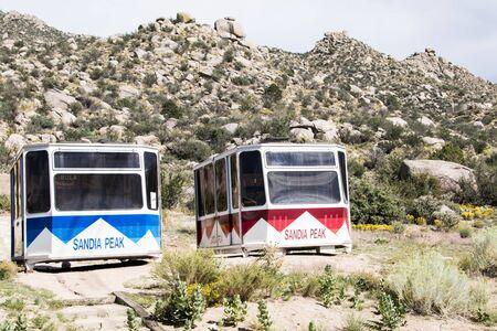 Two Extra Sandia Peak Trams in waiting Фото со стока