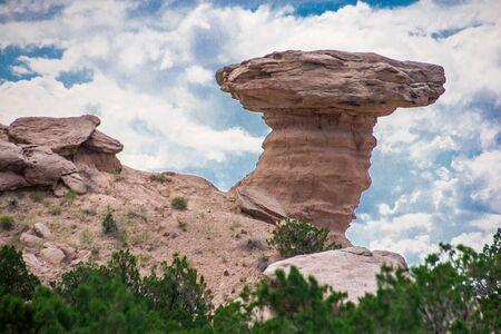 Camel Rock in New Mexico Фото со стока
