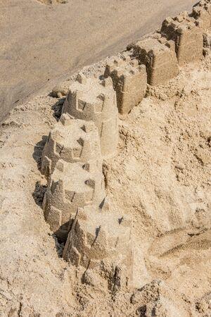 Rehoboth Beach Orderly Sand Castle Фото со стока