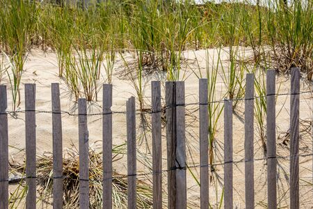 Rehovoth Beach Delaware safety fence Фото со стока