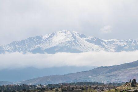 Winter like Colorado mountain in May Фото со стока