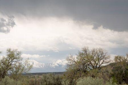 Colorado Icy  Mountain in May Фото со стока - 73189154