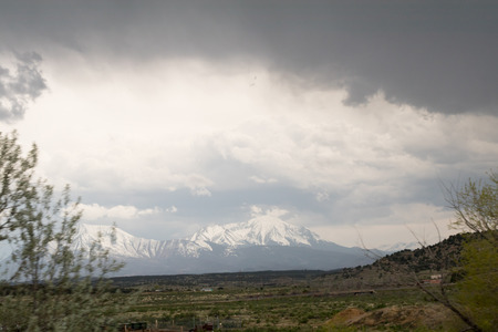 Colorado ice covered Mountain in May