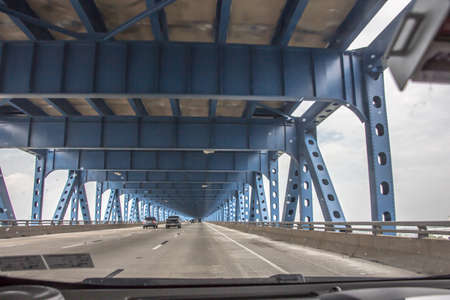 Philadelphia Blue Bridge Фото со стока - 77292253