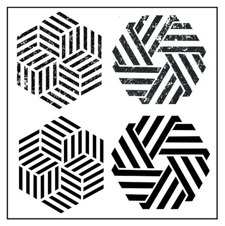 geometric Symbol Grunge logo Ilustração