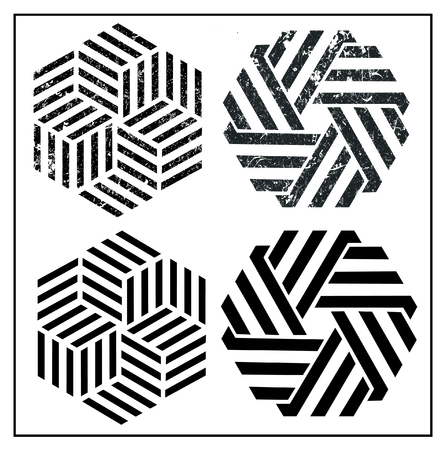 geometric Symbol Grunge logo Illustration