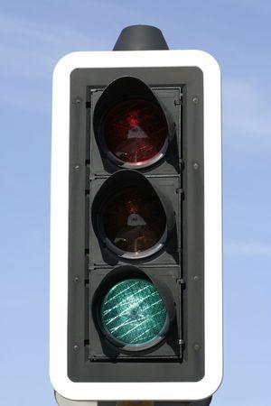 authorization: Green Light Stock Photo