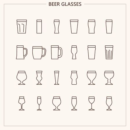 Beer glass outline iconset