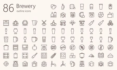 brewery outline iconset