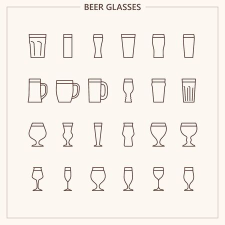 Beer glasses iconset