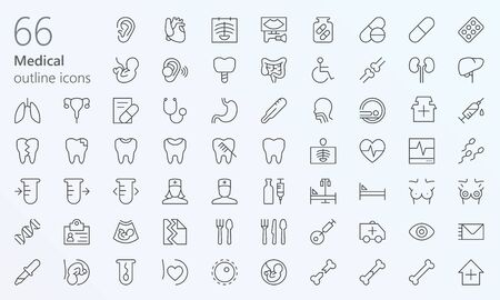 Medical outline iconset
