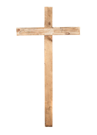 Upright wooden cross photo