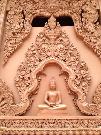 thai temple: Art Thai style carving temple of thailand