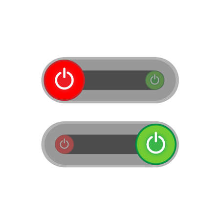 On Off slider style power buttons, The Off buttons are enclosed in red,