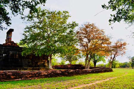 Khmer Temple, old temple name Prasat Noan Koo, Angkor period time, Korat, Sung noen, Thailand - traveling