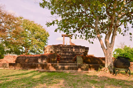 Khmer Temple, old temple name Prasat Noan Koo, Angkor period time, Korat, Sung noen, Thailand - traveling Zdjęcie Seryjne
