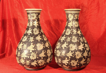 antique vase: Antique porcelain vase Stock Photo