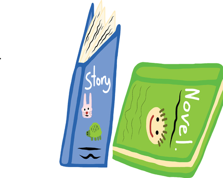 story book: A picture digital art of story book and novel book Illustration