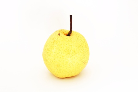 The Chinese pear on white background Stock Photo