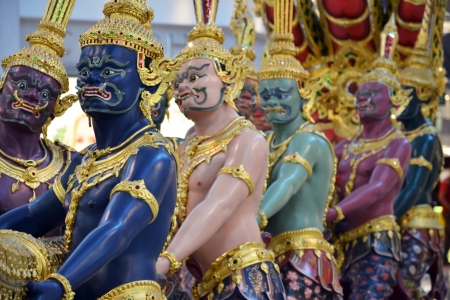 Colorful of Thai giants look like imposing.