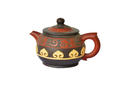 Chinese exquisite little teapot made from baked clay